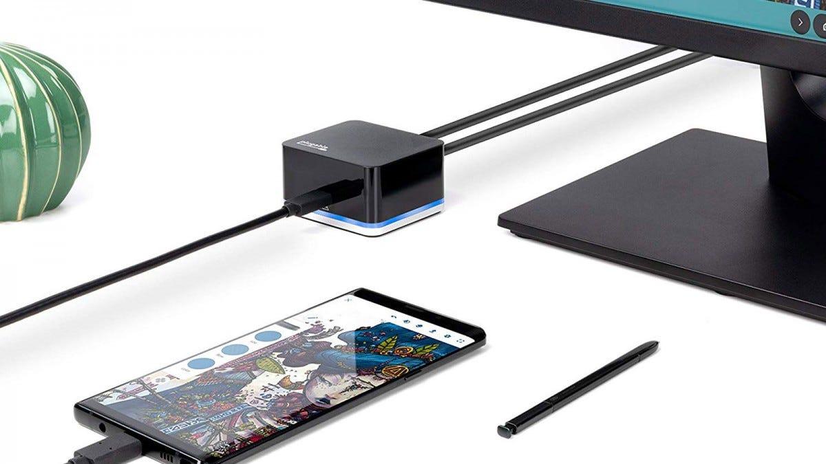 Der Phone Cube von Plugable ist die beste Option für Samsung DeX (falls Sie dies möchten)