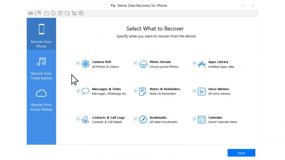 Stellar recovery software works on both Android and iOS to recover all kinds of files