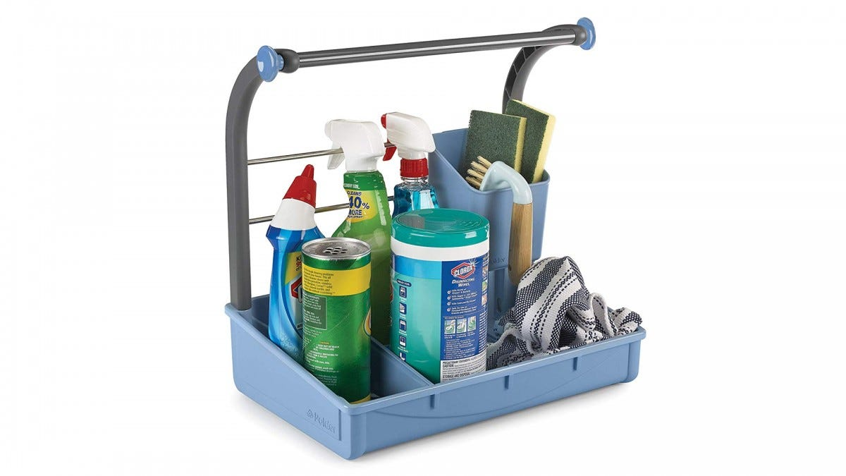 The Polder under-sink cleaning supplies caddy.