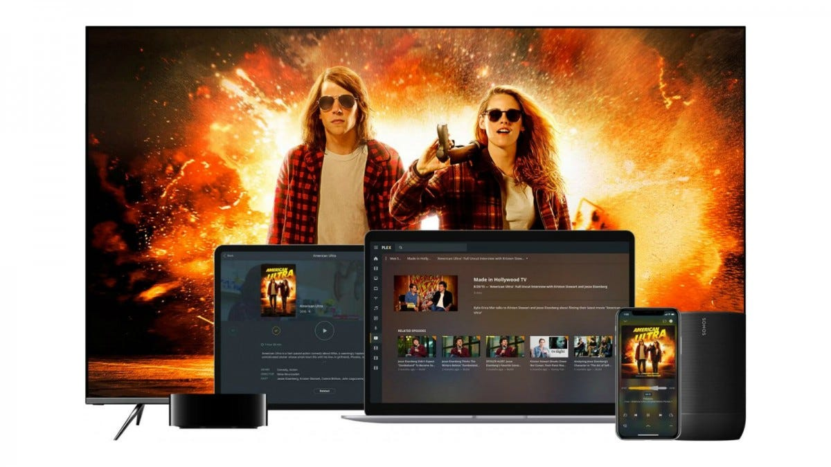 Plex being used on several devices