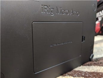 The iRig Micro's battery bay