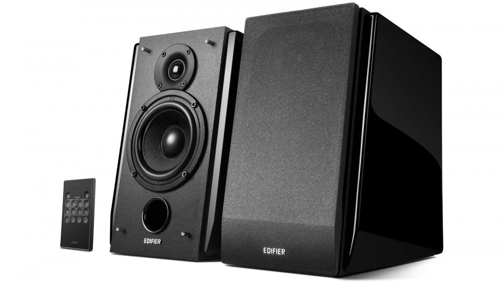 Edifier R1850DB active bookshelf speakers with bluetooth and optical input