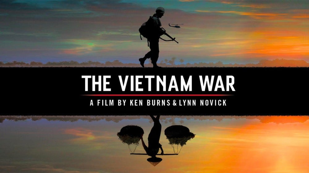 A photo of The Vietnam War's box art.