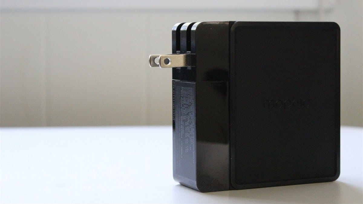 Mophie Powerstation Hub with the prongs out