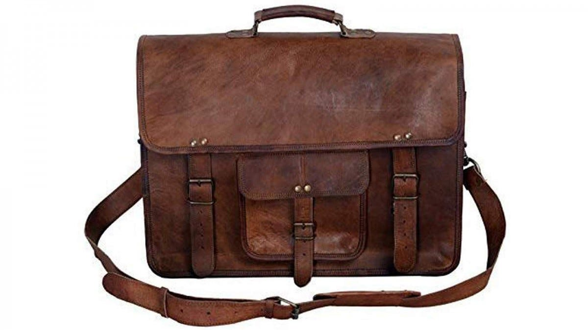 The KPL Vintage Leather Briefcase.