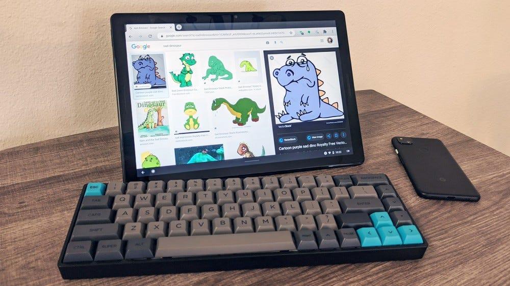 Pixel pala billentyűzettel és telefonnal