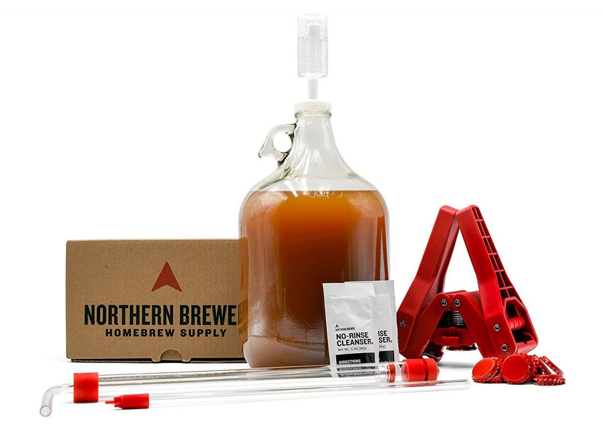 This homebrew beer kit comes in six different varieties.