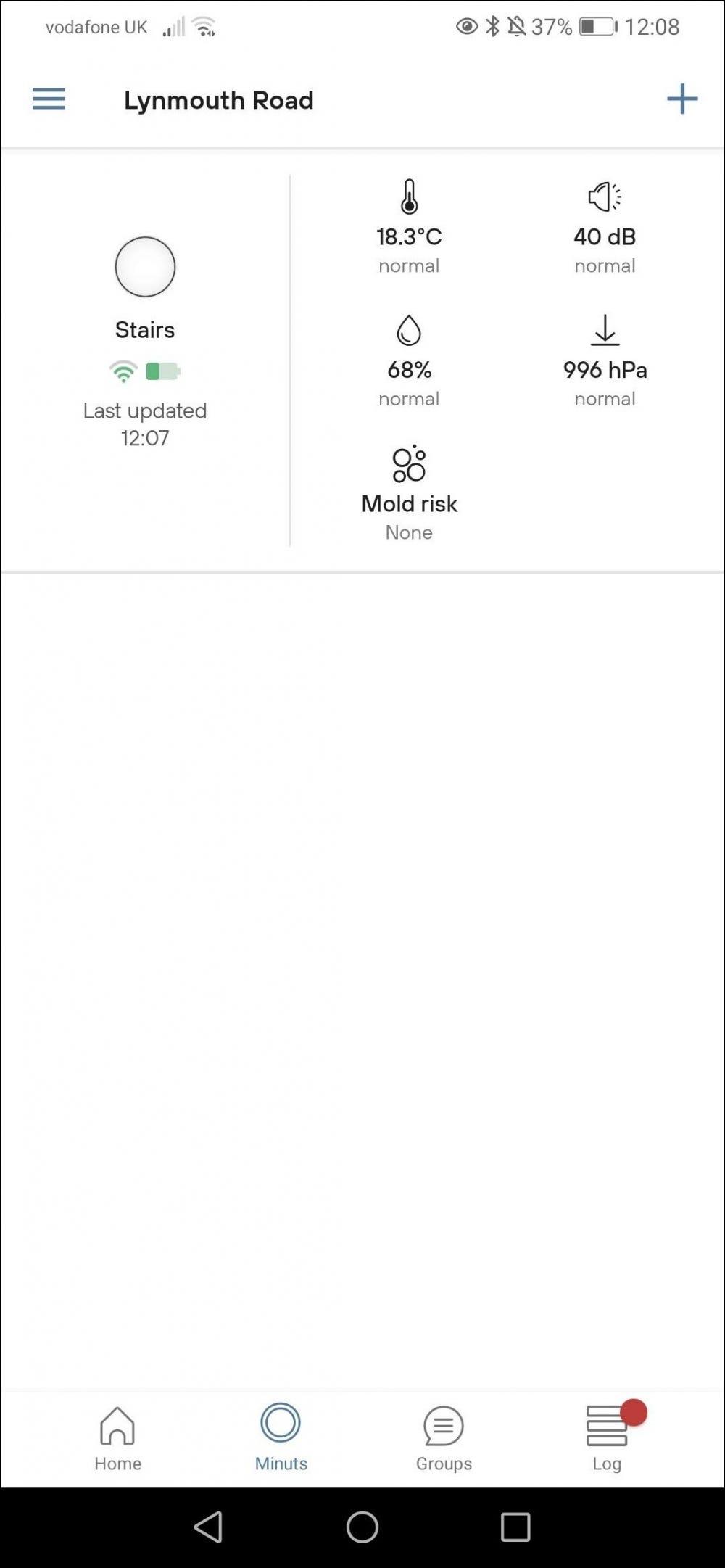 minut app minuts page with mini report