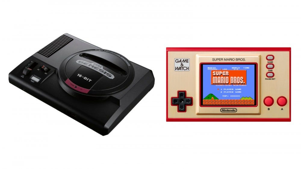 Sega Genesis Mini, GAME & WATCH Super Mario Bros