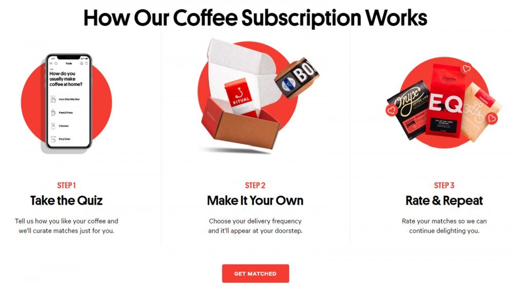 Trade Coffee best coffee subscription box for global coffees personalized coffee picks
