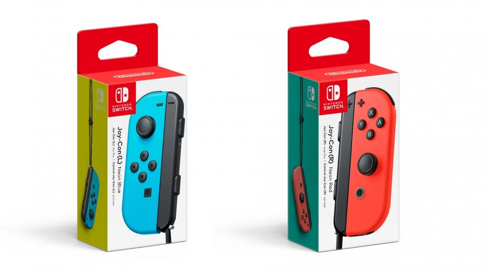 Individually sold Joy-Con controllers