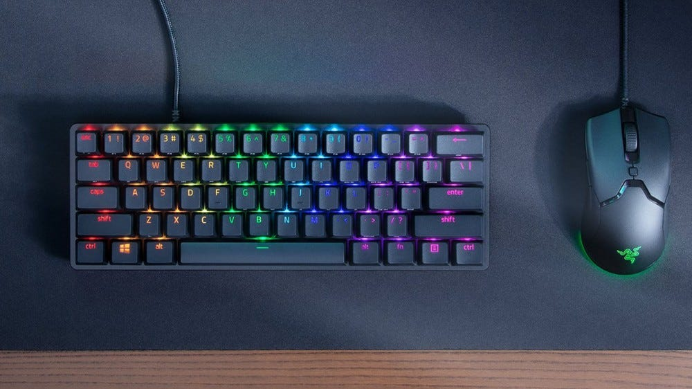 Razer Huntsman Mini keyboard and mouse