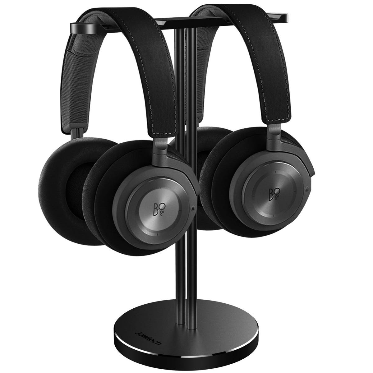 Jokitech dual holder headphone stand for two full size sets of headphones