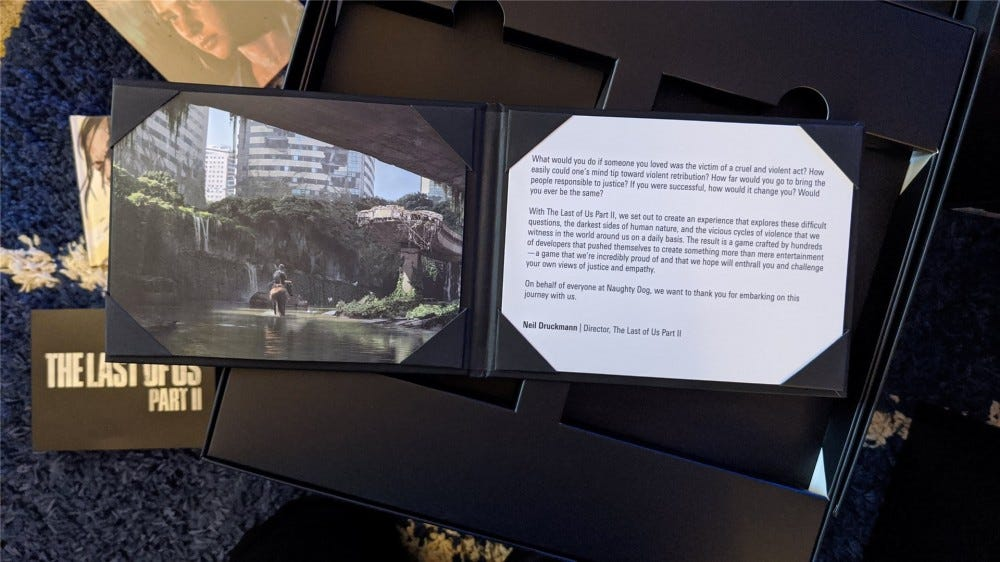 The Last of Us Part II lithograph and thank you letter
