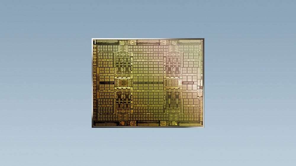 A CMP chip against a blue background.