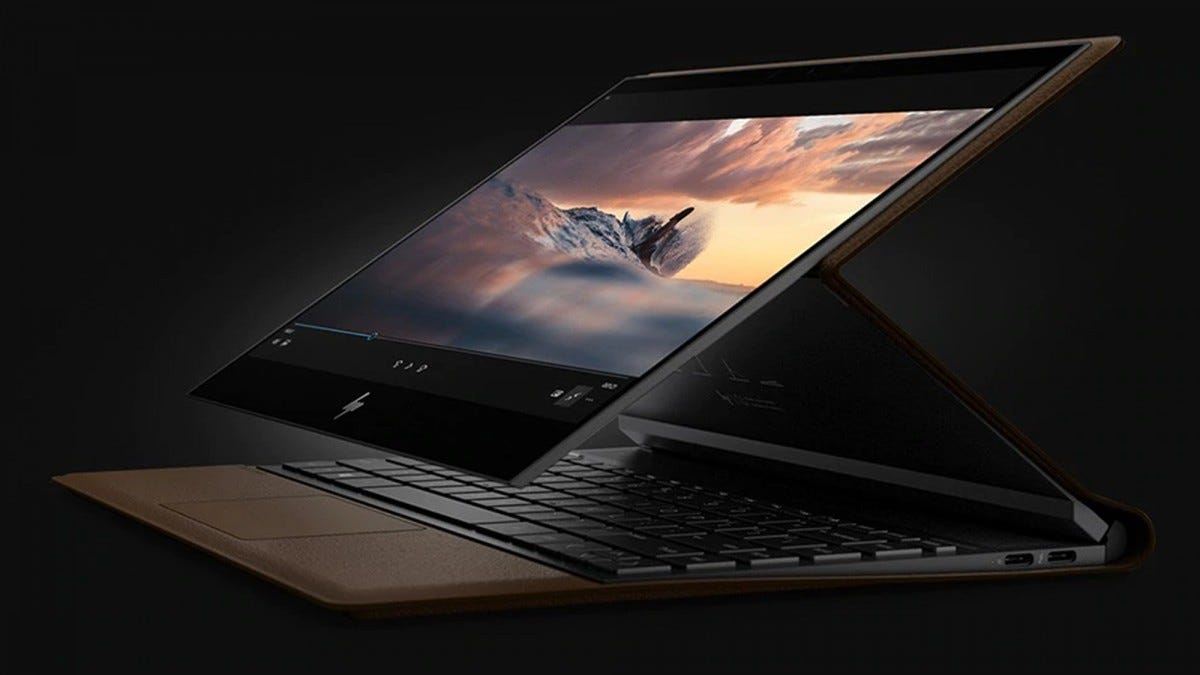 hp, hp spectre, folio, laptop, leather