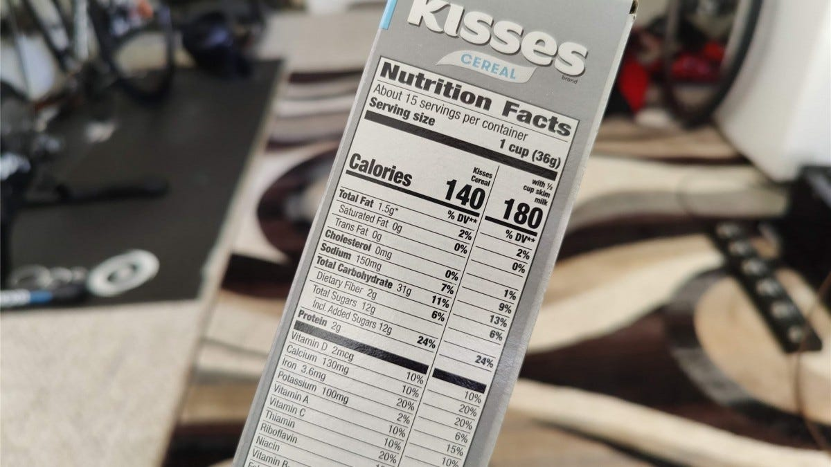 Hersey's Kisses Cereal Nutrition