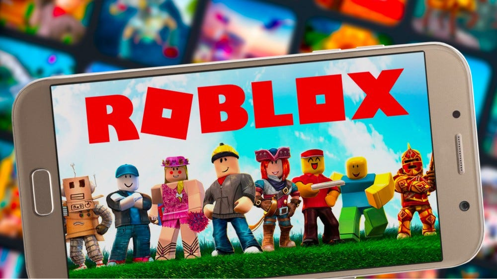 'Roblox' on a smartphone.