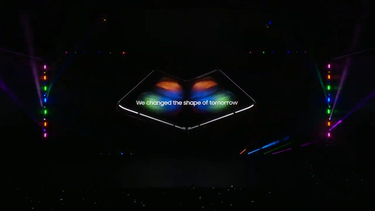 Samsung unveils the Galaxy Fold in San Francisco.