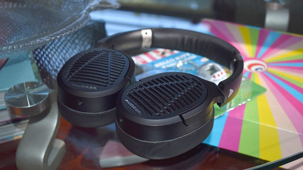 The Audeze LCD-1's on my coffee table.