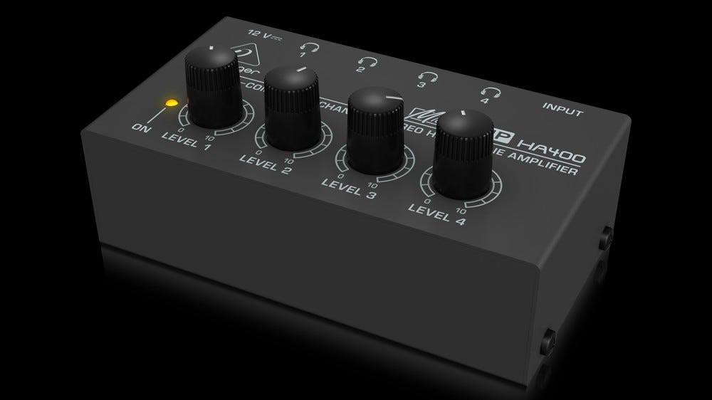 The cheap and simple Behringer HA400 --- a great option for studio use.