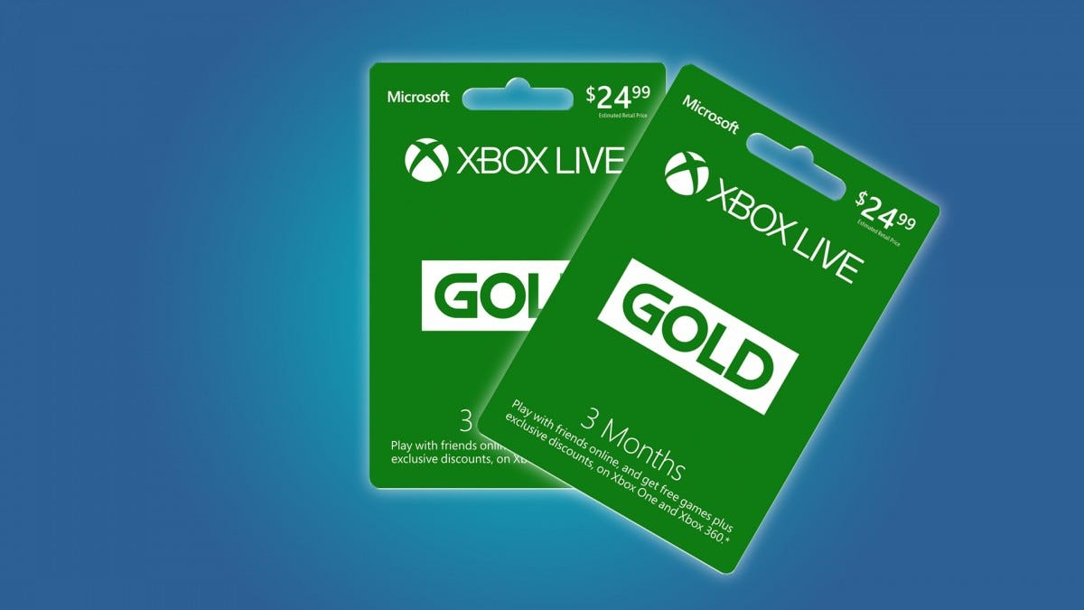Two Xbox Live membership cards