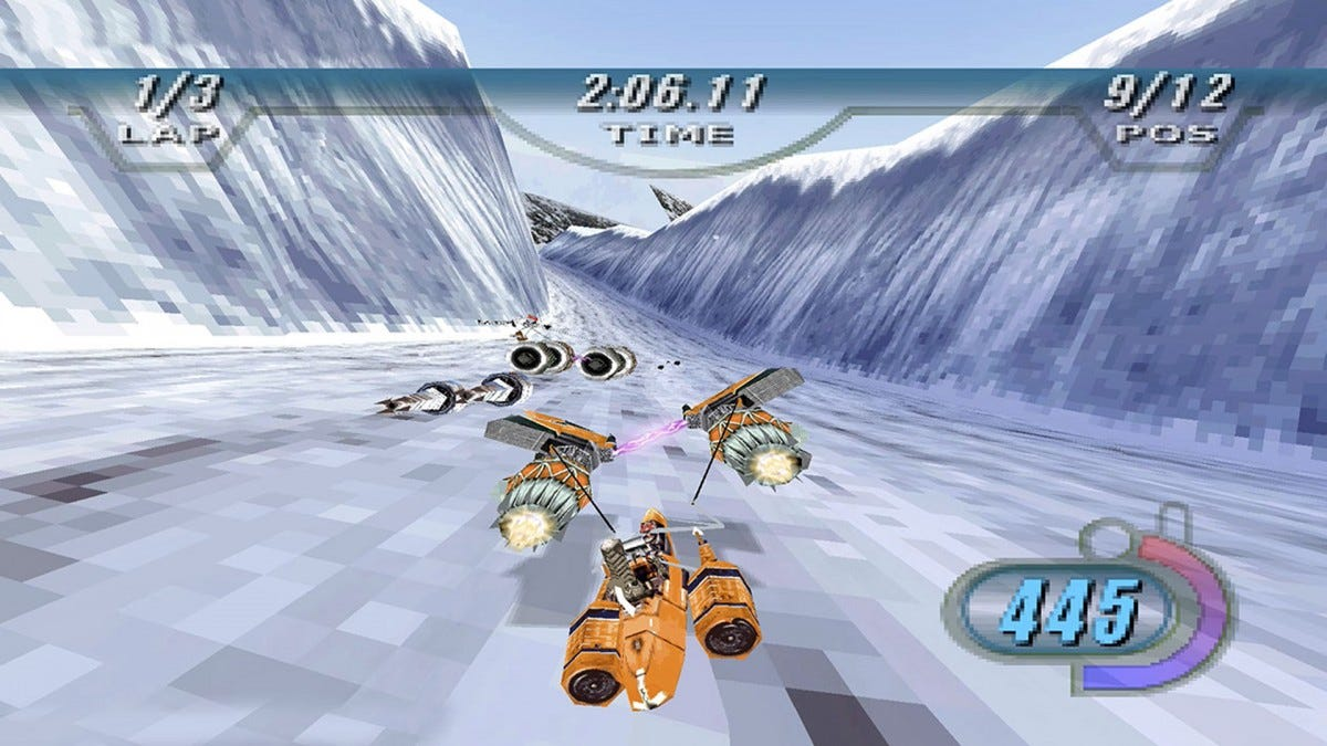 An image of the Star Wars Episode I: Racer game.