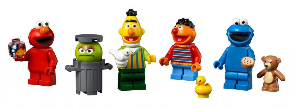 Sesame street LEGO minifigs