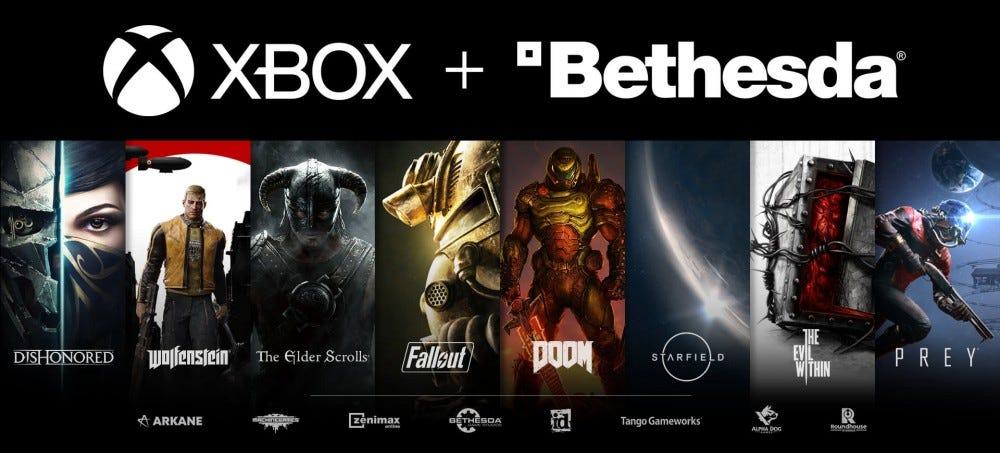 Xbox + Bethesda promo graphic