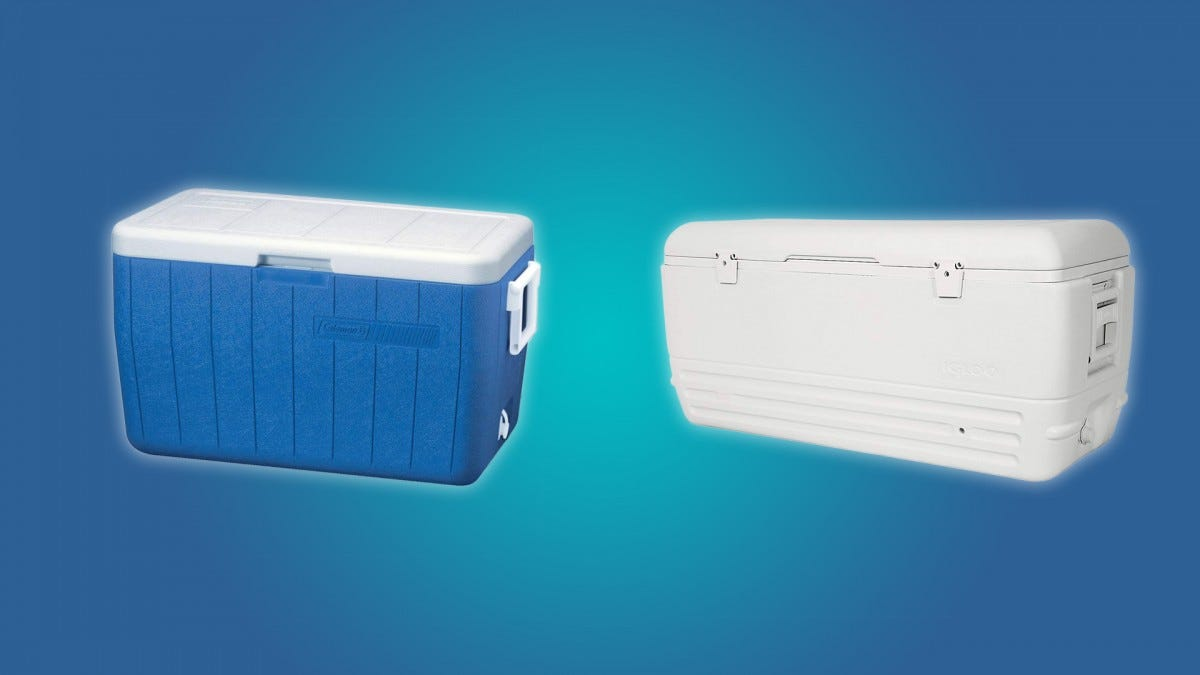 The Coleman 48qt and Igloo 150qt Coolers