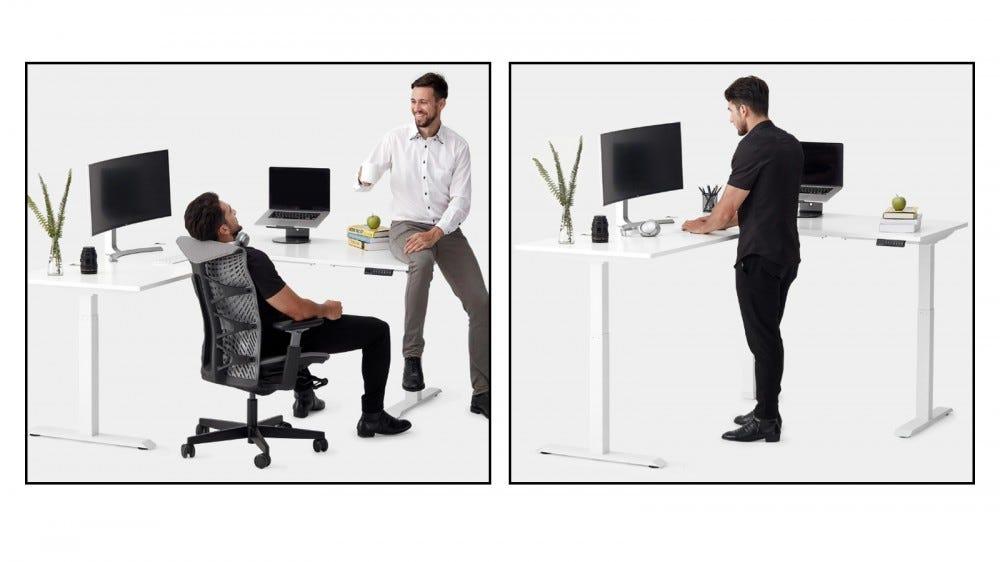Autonomous L-Shaped SmartDesk best L-shaped corner standing desk heavy duty desk