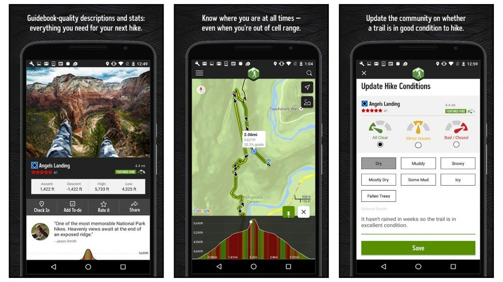 Hiking project best hiking app for international hikes 2020 download hiking maps check in on a hike
