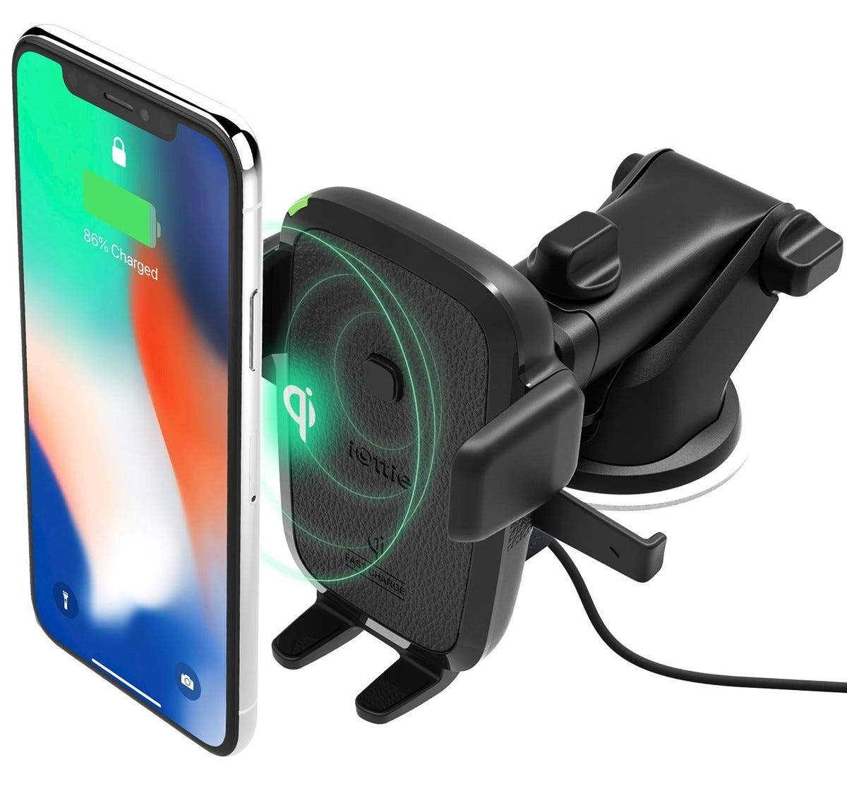 iottie, car dock, phone dock, one touch, qi, wireless charging,