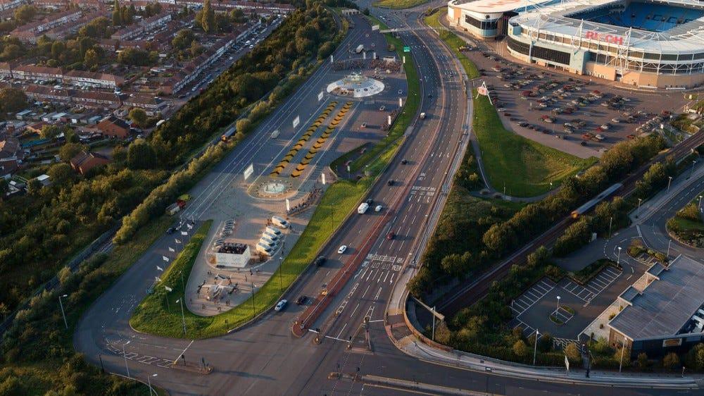 Az Urban Air Ports tervezett helyszíne Coventry, Egyesült Királyság