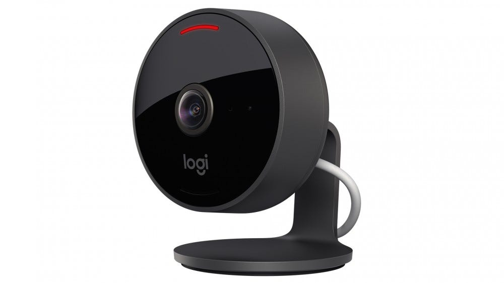 A photo of the Logitech Circle View smart camera.