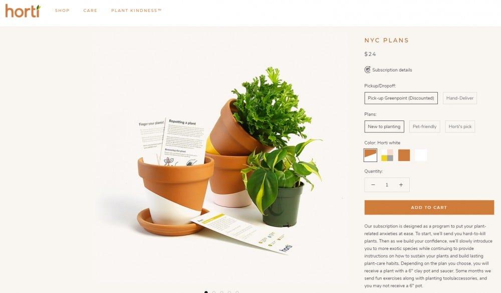 Horti live plant subscription box small plants