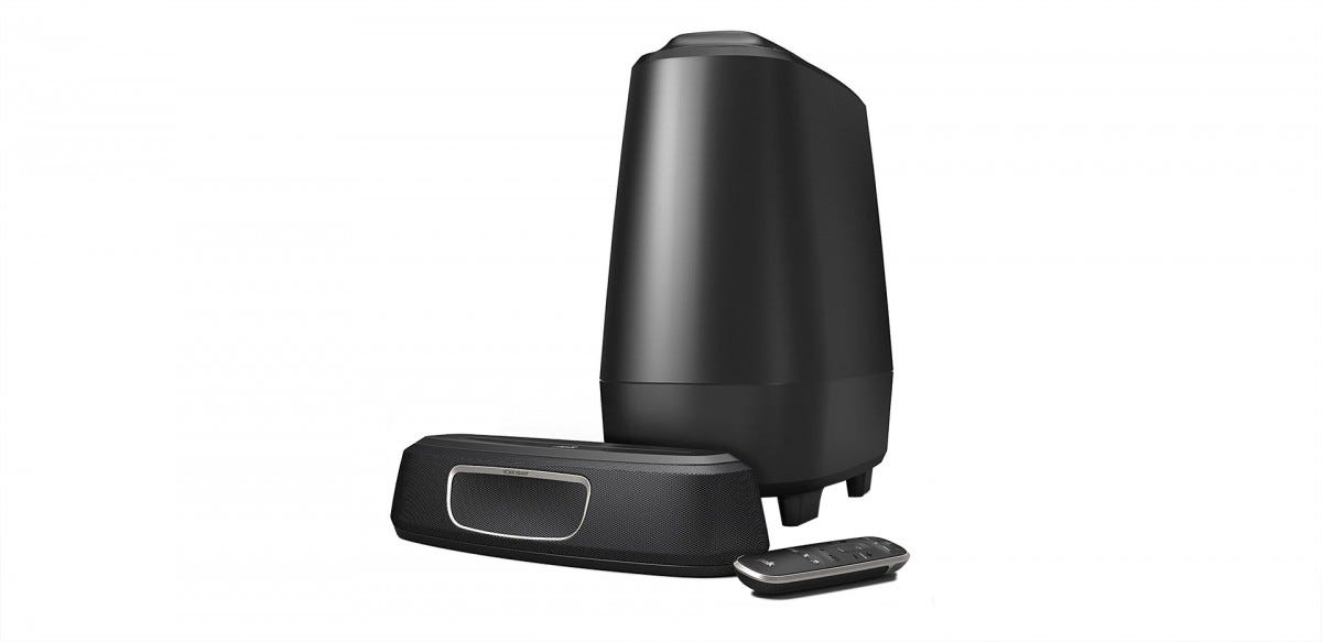 The Polk MagniFi Mini 2.1 sound bar and subwoofer.