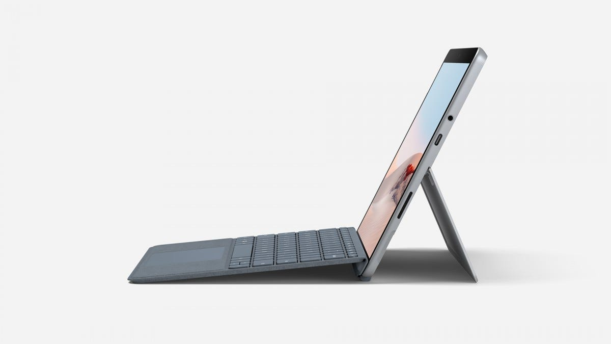 A photo of the Surface Go 2's ports.