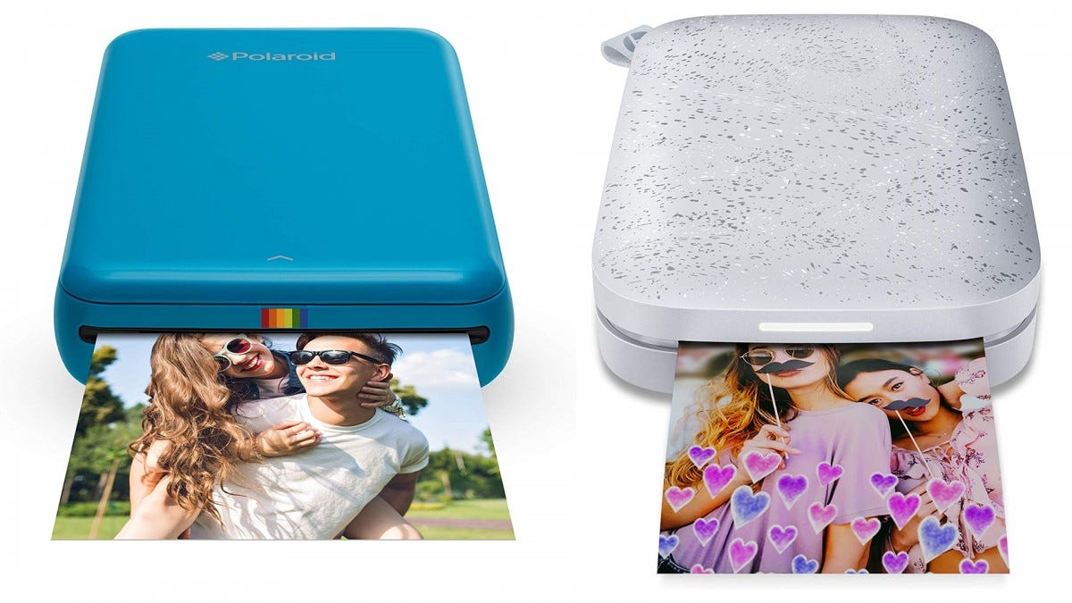 A photo of the HP Sprocket and the Polaroid ZIP.