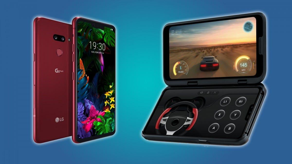 LG's G8 ThinkQ and V50 dual-screen designs.