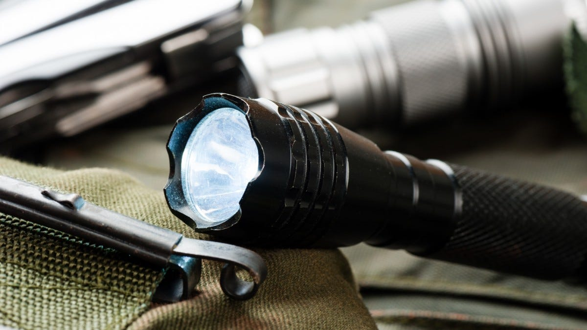An everyday carry flashlight.