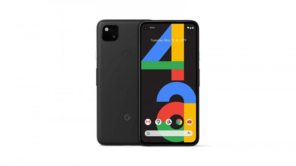 Photo of the Google Pixel 4a back and front