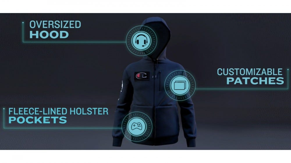 Champion's gamer hoodie features