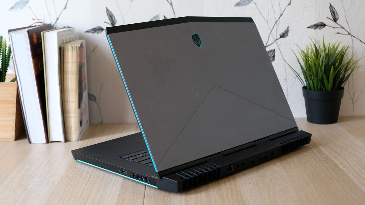 A photo of an Alienware gaming laptop.
