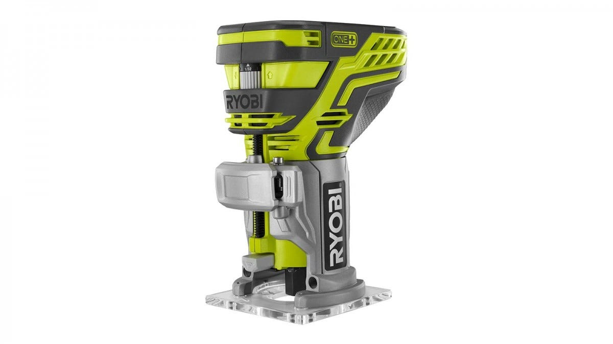 Ryobi Trim Router without a battery inserted.