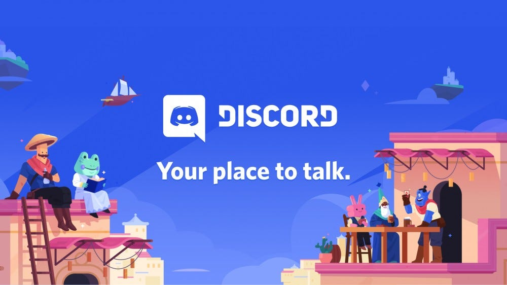 "Promotional image for Discord, ""Your place to talk"""