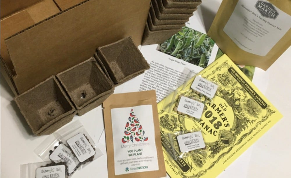 Bloomin' Bin plant seed subscription box flower seeds fruit seeds vegetable seeds garden tools garden projects