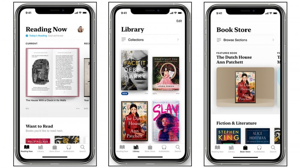 Apple Books best book reader app for Apple iOS iPhone iPad Apple Watch audiobooks icloud