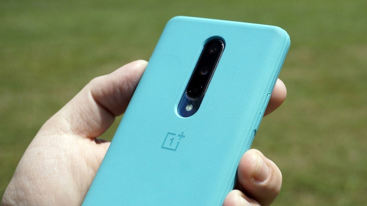 OnePlus 8 with official case