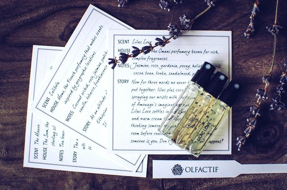 Olfactif perfume subscription box